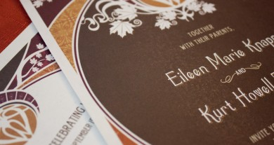 Eileen and Kurt - Art Nouveau Wedding Invitations