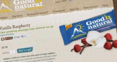 Good 'n Natural Bar Website