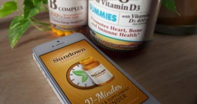 Sundown Naturals V-Minder Mobile App